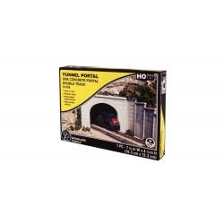 Tunnel 2 voies / Concrete Double Portal H0