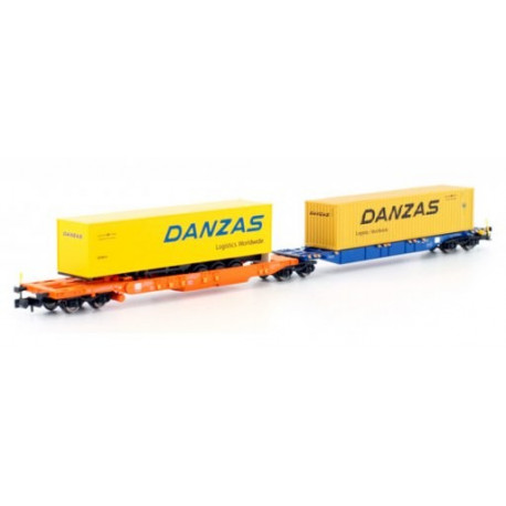 Wagon porte conteneur Danzas-N-V
