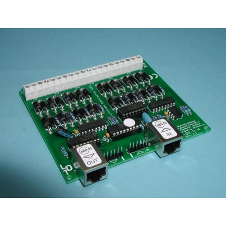 RM-GB-8-N-B kit feedback module avec détecteur de voie / Kit feedback module with track detector