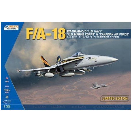 """F/A-18A/B/C/D """"U.S. Navy"""", """"U.S. Marine Corps"""" & Canadian Air Force"""" 1/32"""