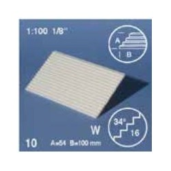 Escaliers / Tread plates, slope 34°, white 1/100