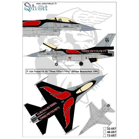 F-16a Falcon FA-50 three fifty's fifty 350 sqn Beauvechain 1991 1/48