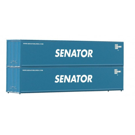 Set de deux containers 40FT Senator-H0