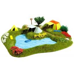 Lac de baignade avec terrain de camping / Lake with camp site H0