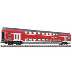 Double decker coach 2nd class Zug Café type DBpkz Gorlitz of the DB AG