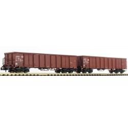 Set de 2 wagons eanos x-052 DB bruns Ep V N