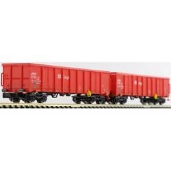 2 wagons eanos x055 DB rouges Ep VI N