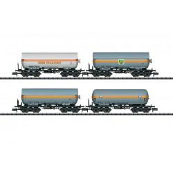 Set de 4 wagons citernes gaz DB III N