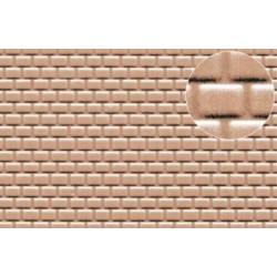 Plastikard brique rouge 2 mm / English bond brick 330 * 220