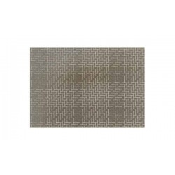 Plaque Diorama Briques Grises / Diorama Material Sheet Gray-Colored Brickwork, 210x297mm