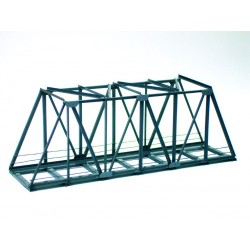 Pont métallique / Metal box-girder bridge, straight H0