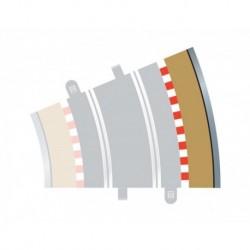 4 Bordures extérieures courbes / Curve Outer Borders, Radius 3, 22,5° 1/32