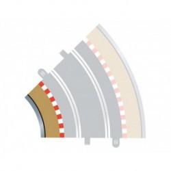4 Bordures intérieures courbes / 4 Curve Inner Borders, Radius 2, 45° 1/32