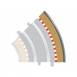 4 Bordures extérieures courbes, Radius 2, 45° 1/32