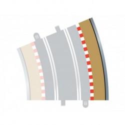 4 Bordures extérieures courbes / Curve Outer Borders, Radius 4, 22.5° 1/32