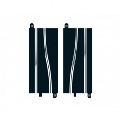 2 Chicanes en ligne droite / 2 Side Swipe Straights, 350mm 1/32
