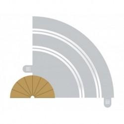 2 Bordures intérieures courbes / 2 Curves inner borders, Radius 1, 180° 1/32