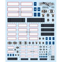Décal Plaques Immatriculation Belges / Belgian Car License Plates, 1/43-1/24-1/18