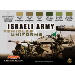 Set de 6 couleurs acryliques armée israelienne / set of 6 colors acrylic of the Israelian army