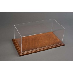 Vitrine Base en Acajou / Display Case Base in Mahogany, 325x165x125mm, 1/18