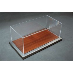 Vitrine Base en Métal-Acajou / Display Case Base in Metal-Mahogany, 325x165x125mm, 1/18