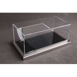 Vitrine Base en Métal-Acrylique / Display Case Base in Metal-Acrylic, 325x165x125mm, 1/18