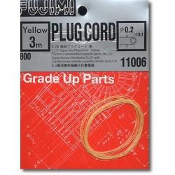 Fil de Bougie jaune / Yellow Plug Cord, 3 m diam 0.2