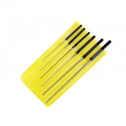 Set d'alésoirs de coupe / Precision Cutting Broach Set, 0.6-2 mm (6pces)