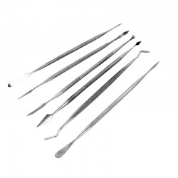 Set de 6 outils à graver / Stainless Steel Carvers Double Ended Set