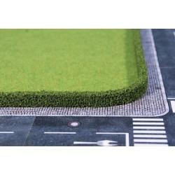 2 Haies flexibles, vert foncé / Flexible hedges, dark green, 25x7cm, L 50 cm