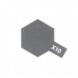 X10 Gris Acier Brillant / Gun Metal Gloss