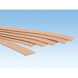 18 Bandes de liège pour voies / 18 Cork Track Bed 2mm, N