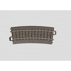 Rail courbe / Curved Track, R1:360 mm, 15°, H0