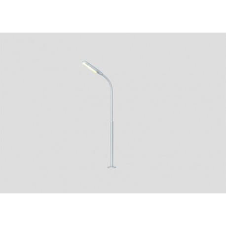 Réverbère en col de cygne, simple / Simple Curved Streetlight, H 10cm, H0