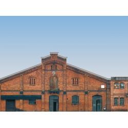 Fond de décor 6 Bâtiments de fond en bas relief / Low relief background of 6 industrial facades H0