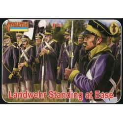 Landwehr Standing at Ease, Epoque Napoléonienne, 1/72