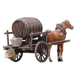 Charrette avec fût de bière / Beer wagon H0