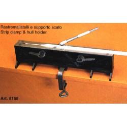 Machine à listeaux et fixation de quille / Hull and strip clamp