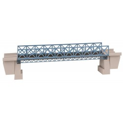 Pont en acier / Steel bridge, H0