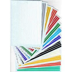 Bandes de couleur Blanche, de 0.25mm à 5 mm