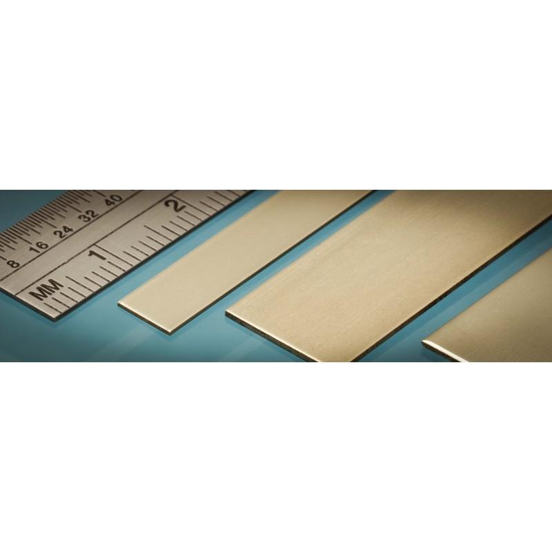 4p. ALBION ALLOYS BS2M Laiton Brass Strip 12 x 0.4 mm