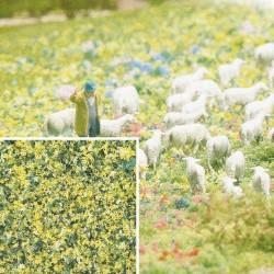 Flocage Fleurs jaune-vert / Foam Flock Flowers 200ml