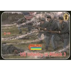 US Infantry in Attack 3, American Civil War 1/72