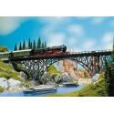 Pont porteur metallique / Deck arch bridge H0