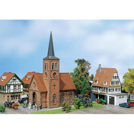 Église de petite ville / Church H0
