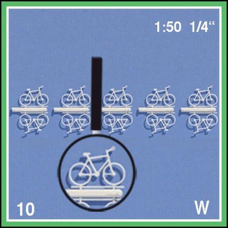 Dix vélos à peindre