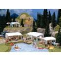 Kit de caravanes de camping /Set of camping caravans H0