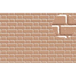 Plastikard Briques flamandes Beiges / 7mm Flemish Bond Brick Grey