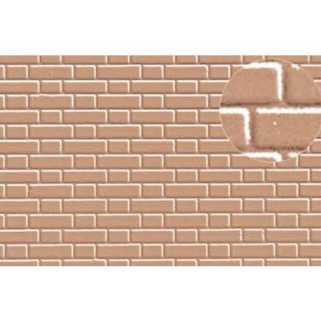 Plastikard Briques flamandes Beiges / 7mm Flemish Bond Brick Grey
