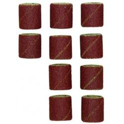 Papier émeri forme feuille cylindrique ø 14 mm grain 120, par 10 pièces